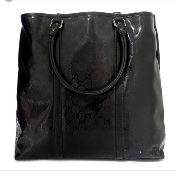 26ec18672423 Gucci Bags | Imprime Ssima Black Polyamide Tote | Poshmark